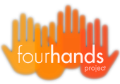 logo fourhandsproject, Musical Creations for Films, Advertisement and Documentaries